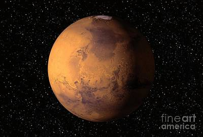 Mars, Artwork Poster by David Ducros