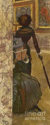 Mary Cassatt At The Louvre Poster by Edgar Degas