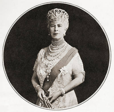 Mary Of Teck, Victoria Mary Augusta Poster by Vintage Design Pics