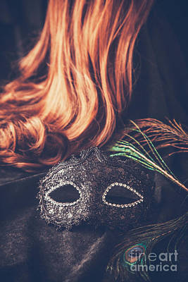 Mask With Wig Poster by Mythja Photography