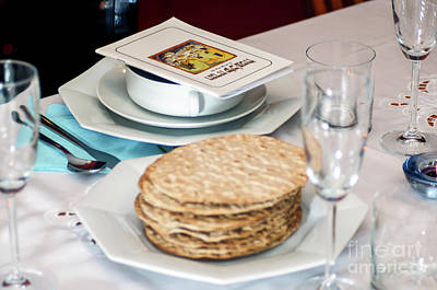 Matza And Haggada For Pesach Poster