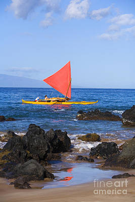 Maui Sailing Canoe Poster by Ron Dahlquist - Printscapes