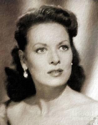 Maureen O'hara, Vintage Hollywood Legend Poster