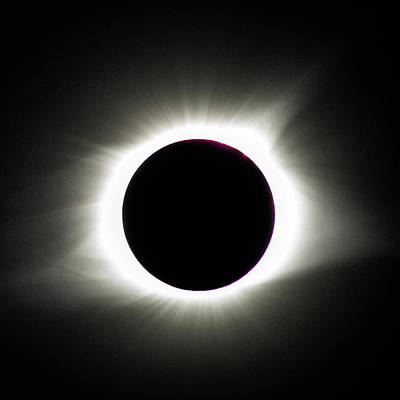 Poster featuring the photograph Maximum Totality by Randy Scherkenbach
