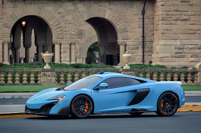 Poster featuring the photograph #mclaren #675lt With #pirelli #tires by ItzKirb Photography