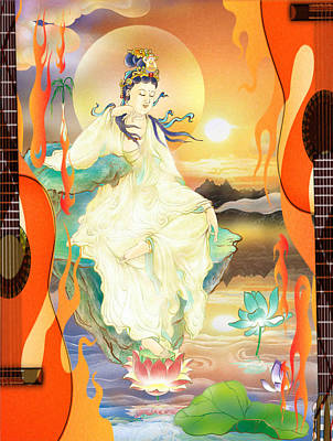 Medicine-giving Kuan Yin Poster by Lanjee Chee