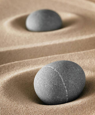 Poster featuring the photograph Meditation Stones by Dirk Ercken