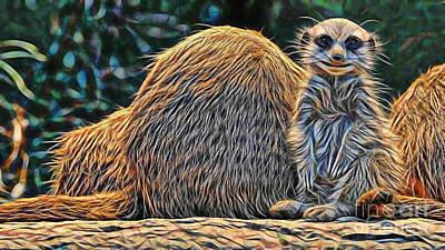 Meerkat Poster by Marvin Blaine