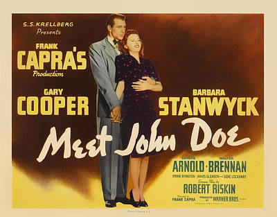 Meet John Doe 1934 Poster by Mountain Dreams
