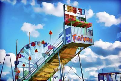 Memories Of Funtown Amusement Pier, Seaside Boardwalk Poster