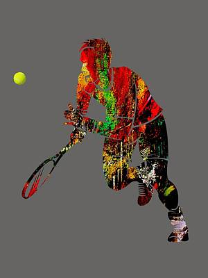 Mens Tennis Collection Poster