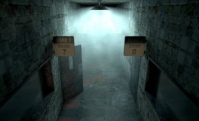 Mental Asylum Haunted Poster by Allan Swart