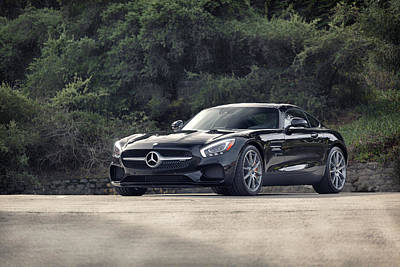 Poster featuring the photograph #mercedes #amg #gts by ItzKirb Photography