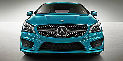 Mercedes Cla Class Coupe Collection Poster by Marvin Blaine