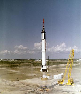 Mercury-redstone Launch Poster by Nasa