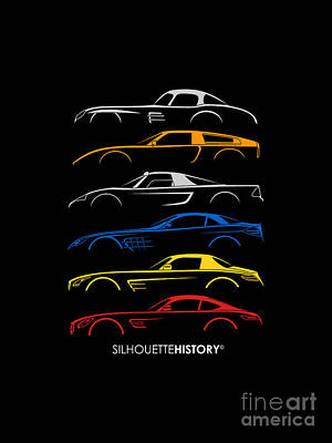 Mercy Sports Car Silhouettehistory Poster