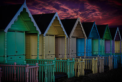 Mersea Island Beach Huts Poster by Martin Newman