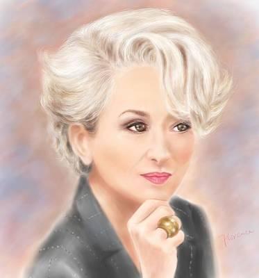 Meryl Streep The Devil Wears Prada Poster by Florence Lee