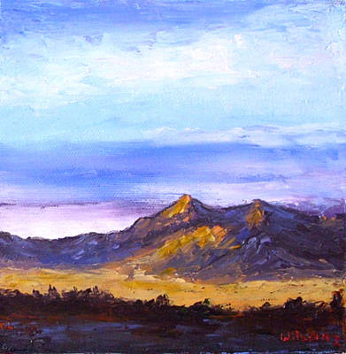 Poster featuring the painting Mesa Sunset by Fred Wilson