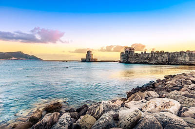 Methoni's Castle / Greece. Poster by Stavros Argyropoulos