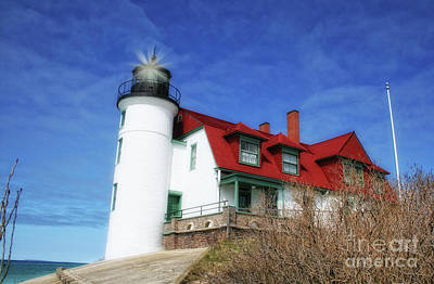 Poster featuring the photograph Michigan Lighthouse by Gina Cormier