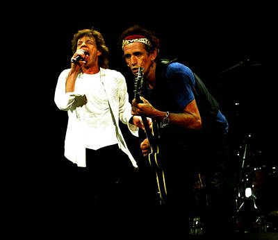 Mick Jagger And Keith Richards 4e Poster