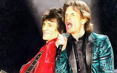 Mick Jagger Poster by Galeria Zullian  Trompiz