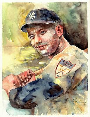 Mickey Mantle Portrait Poster