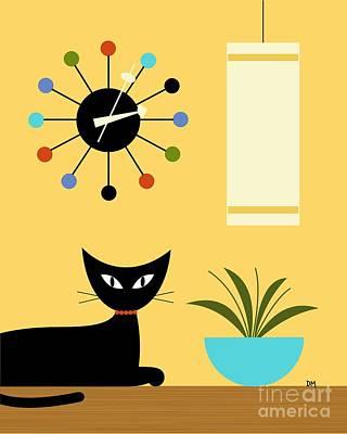 Mid Century Ball Clock 3 Poster