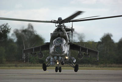 Poster featuring the photograph Mil Mi-24v Hind E by Tim Beach