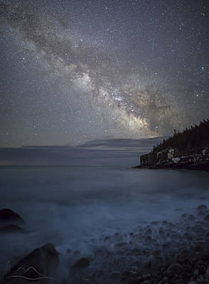 Milky Way In Maine Poster by Chad Tracy