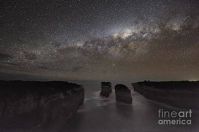 Milky Way Over Shipwreck Coast Poster