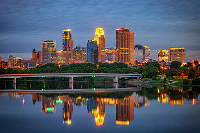Minneapolis Twilight Poster by Rick Berk