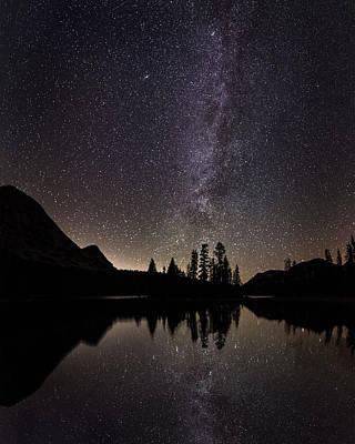 Mirror Lake Milky Way Poster