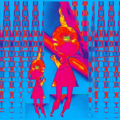 Mommy I Have A Secret  Flower Girl To Flower Mom.  Flower Abstract Animation Art By Navin Joshi  On  Poster