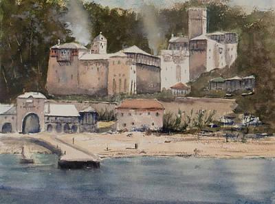 Monastery Agionoros Mount Athos Greece Poster
