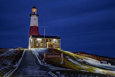 Poster featuring the photograph Montauk Point Lighthouse by Susan Candelario
