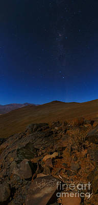 Moonlit Night, Atacama Desert, Chile Poster