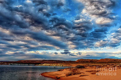 Morning Couds Lake Powell Poster