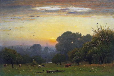 Morning Poster by George Inness