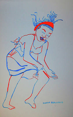 Mossi Dance Burkina Faso Poster