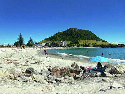 Mount Maunganui Beach 1 - Tauranga New Zealand Poster by Selena Boron