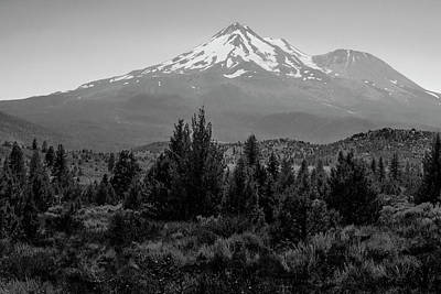 Poster featuring the photograph Mount Shasta And Shastina by Frank Wilson