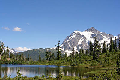Poster featuring the photograph Mount Shuksan And Picture Lake by Lynn Bawden