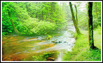 Mountain Stream, Pocono Mountains, Pennsylvania Poster