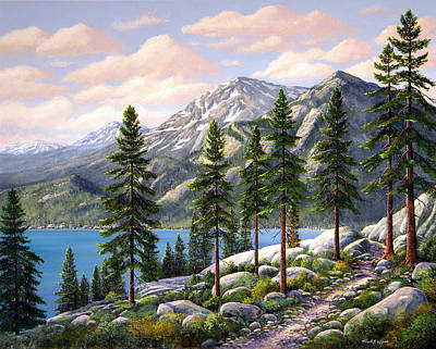 Mountain Trail Poster by Frank Wilson