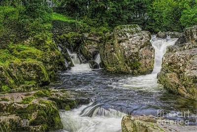 Mountain Waterfall Poster by Ian Mitchell