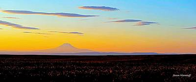 Mt. Adams Sunset Poster