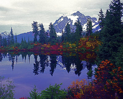 Mt. Shuksan - Picture Lake Poster by Todd Kreuter