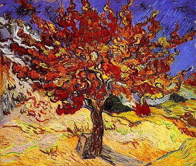 Poster featuring the painting Mulberry Tree by Van Gogh